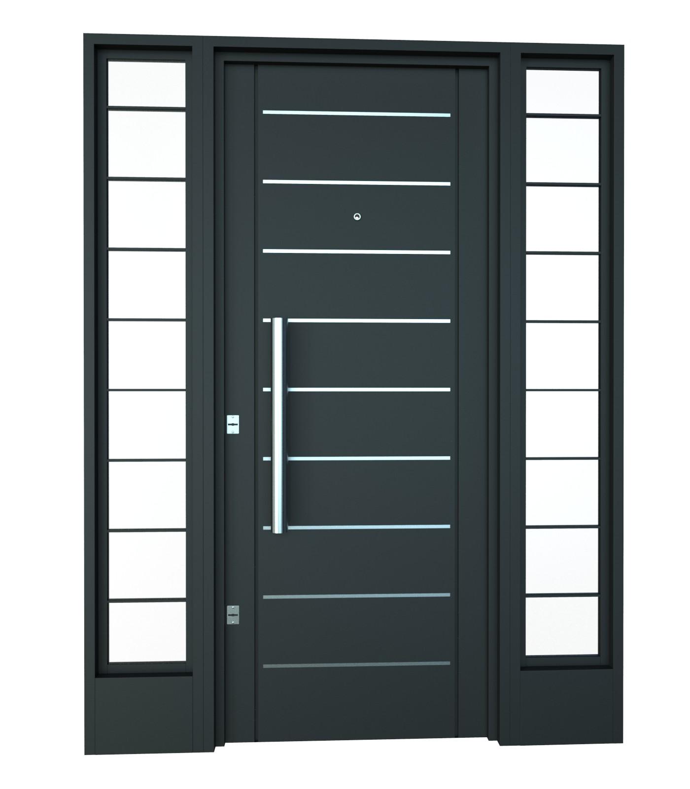 Puertas de hierro para jardin top pforte madera puerta for Puertas jardin aluminio